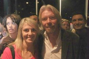 Lisa B and Richard Branson
