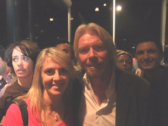 Lisa B with Richard Branson