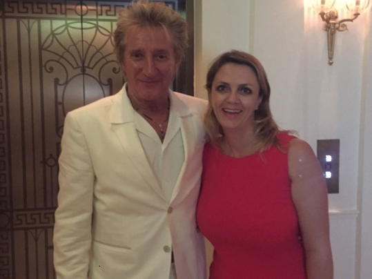 Lisa B with Rod Stewart