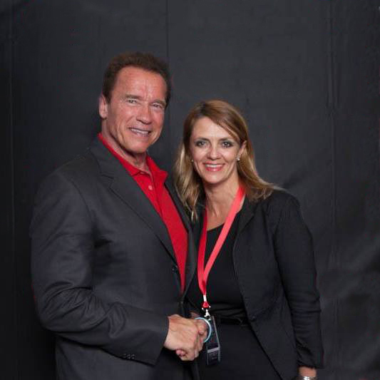 Lisa B and Arnold  Schwarzenegger