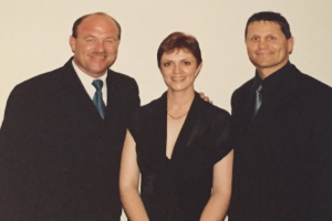 Lisa B, Wally Lewis and Wayne Pearce