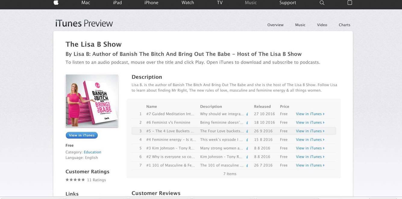 lisa-b-podcast itunes